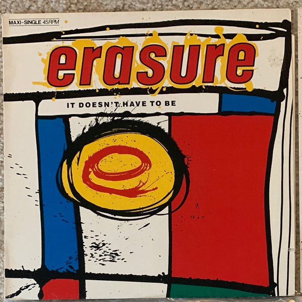"Erasure - It Doesn't Have To Be Original 12"" VINYL -Used"
