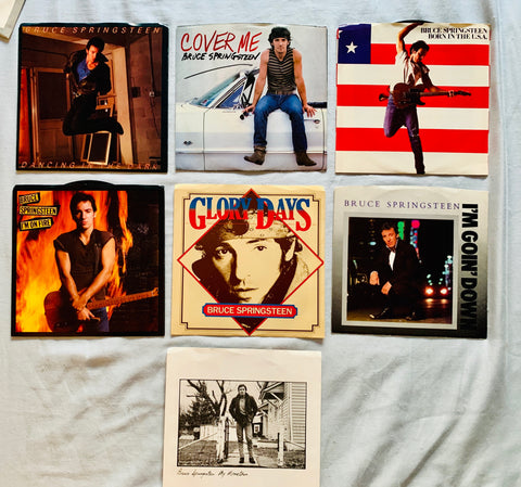 Bruce Springsteen - 7 original 45 records LP Vinyl.  1984-85 Born in the USA