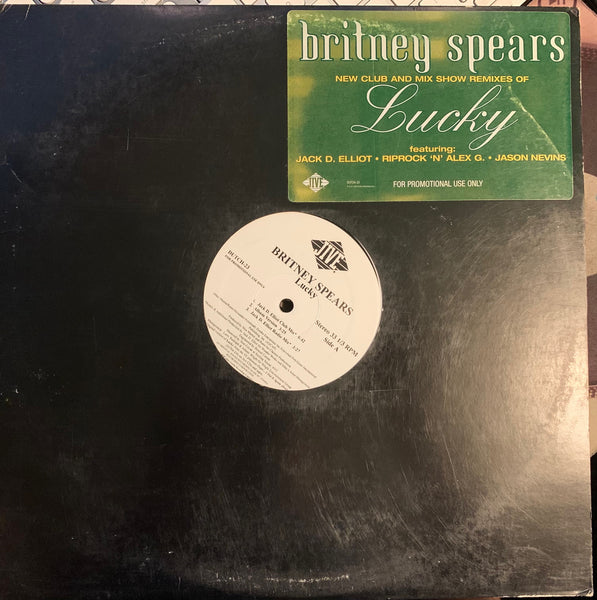 "Britney Spears - LUCKY promo 12"" remix LP VINYL - Used"