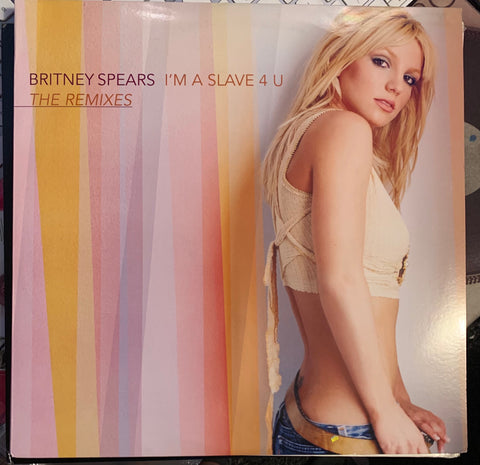 "Britney Spears - I'm A Slave 4 U  double 12""  promotional remix LP VINYL - used"