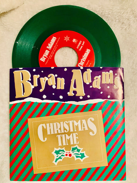 "Bryan Adam - Christmas 45 ""GREEN""  record vinyl"