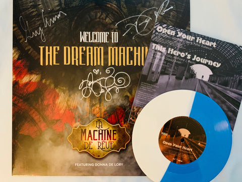 "La Machine de Reve ft: Donna De Lory - Welcome To The Dream Machine (Limited LP VINY) Signed by Donna + FREE 7"" colored vinyl ""OPEN YOUR HEART""."