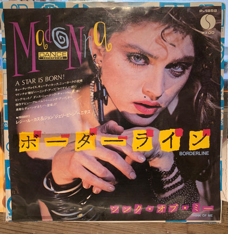 Madonna - Borderline (Japan 45 record) Vinyl 7""