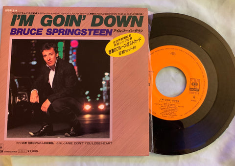 "Bruce Springsteen - I'm Goin' Down 7"" Japan record + 5 postcards -"