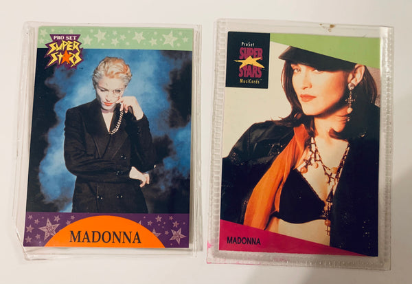 Madonna - Super Stars trading cards (set of 2 in plastic sleeves) 90's