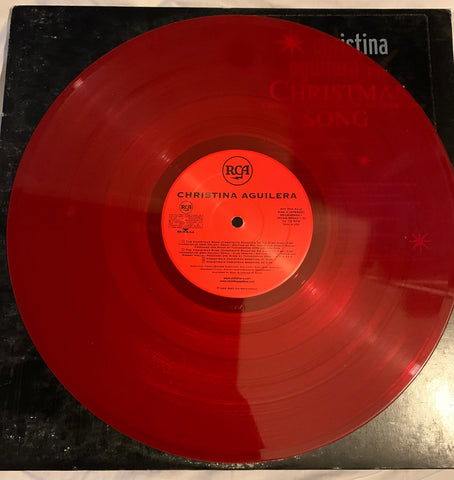 Christina Aguilera - The Christmas Song (Red Vinyl) Promo Used LP version 2