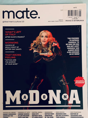 Madonna Magazine - Mate Global Men's Culture  Spring 2012