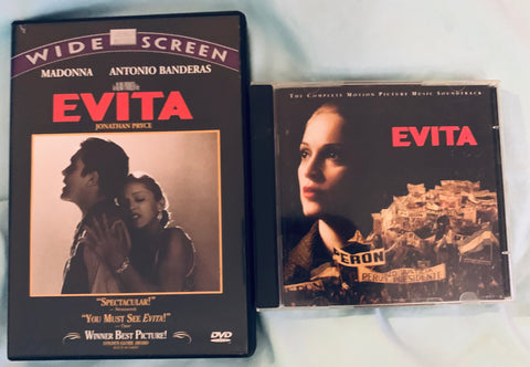 Madonna  - EVITA (DVD and Double CD) -Used