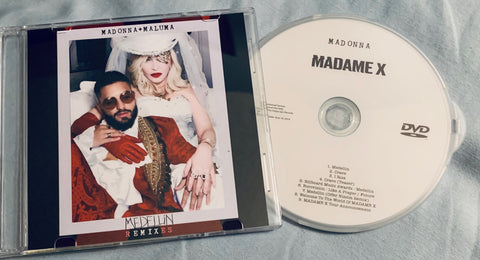 Madonna - MEDELLIN CD single + MADAME X DVD Promo Combo pack -