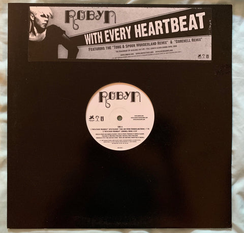 "Robyn - With Every Heartbeat promo 12"" remix Vinyl"
