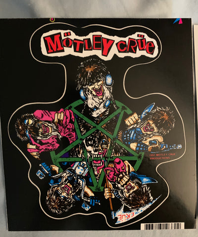 Motley Crue - 6x6 die-cut promotional Sticker
