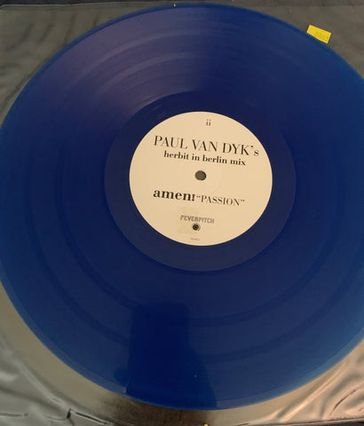 "Paul Van Dyk - Amen! ""Passion"" BLUE Promo vinyl 12"" remix"