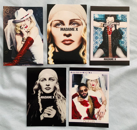 Madonna - set of 5 MADAME X promo postcards set #1