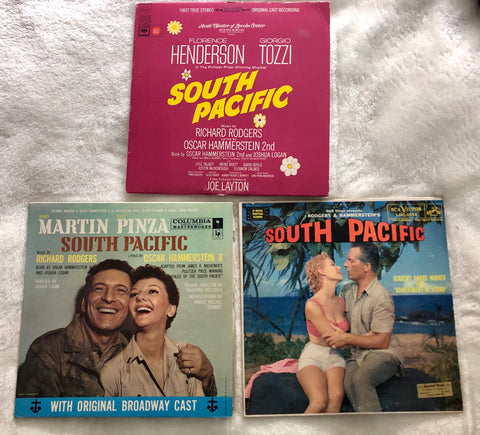 3 Original South Pacific Soundtracks LP Vinyl - Used Feat Florence Henderson