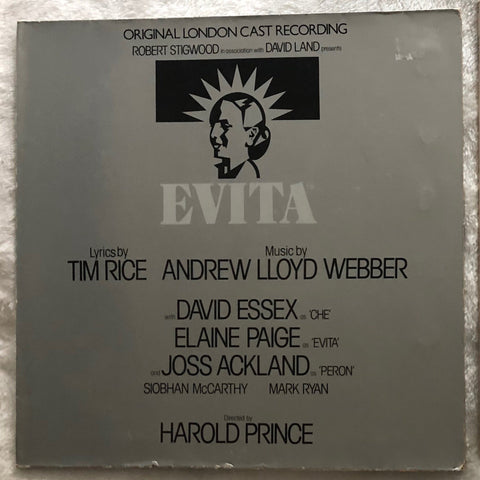 Evita Original 2 London Broadway Cast Recording LP Vinyl  1976 1978