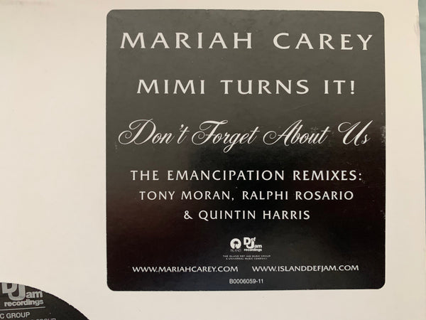 "Mariah Carey - Promotional 12' LP Vinyl  ""Don't Forget About Us"" double LP"