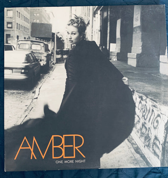 "Amber - One More Night 12"" remix LP Vinyl - used"