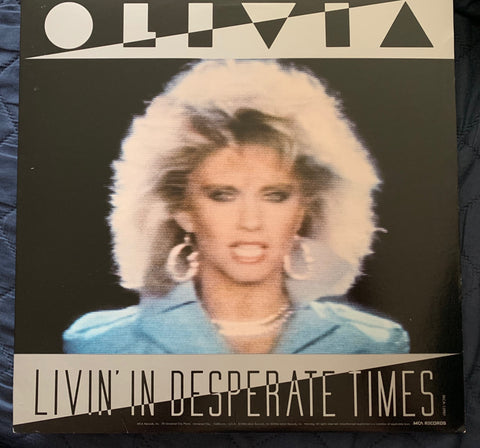 "Olivia Newton-John - Livin' In Desperate Times / Twist Of Fate 12"" Remix LP Vinyl"