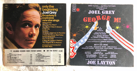 Joel Grey - 2 LP Vinyl Used LOT George M Broadway  - Columbia Records