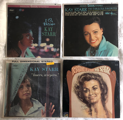 4- Kay Starr LP Vinyl Used LOT - The Fabulous Favorites Capitol Records