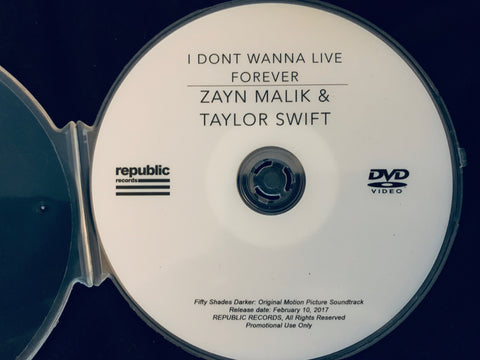 Zayn Malik & Taylor Swift / I Don't Wanna Live Forever DVD promo