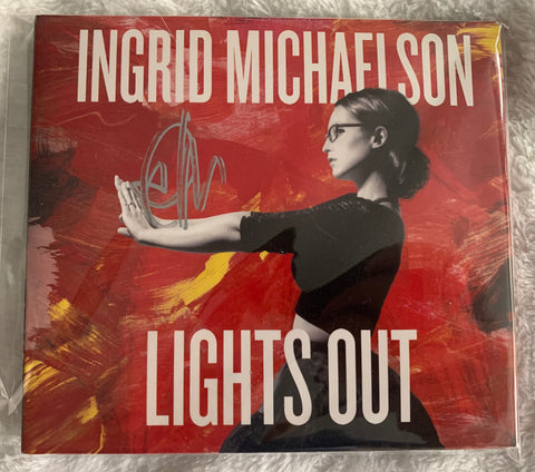 Ingrid  Michaelson - SIGNED CD (Lights Out)  -- Autographed