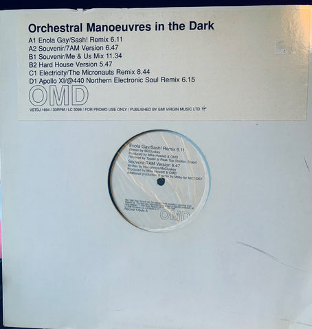 "OMD - 2x12"" REMIXES (Promo) LP VINYL - 1998 Used"