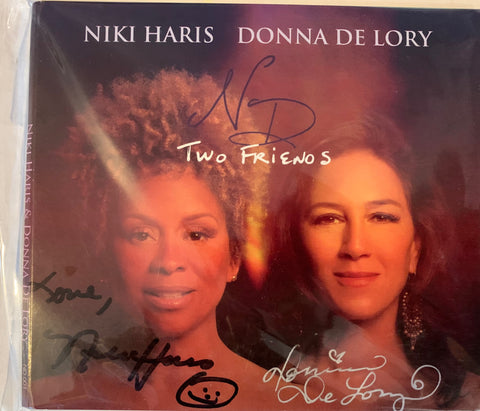 Donna De Lory & Niki Haris : Two Friends (Autographed by both N&D) in Black & Silver - CD - New