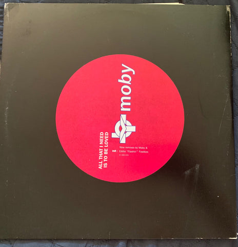 "MOBY - All That I Need Is To Be Loved 12"" LP Vinyl - promo"