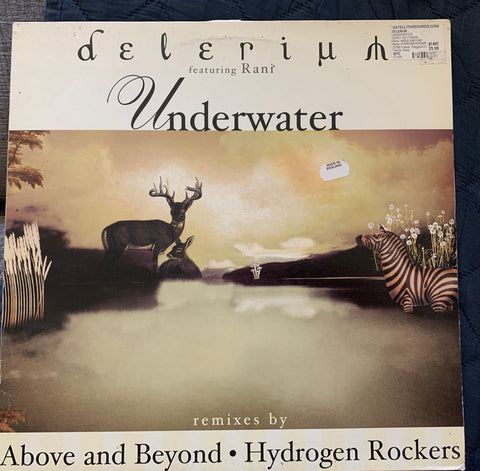 "Delerium ft: Rani : Underwater 12"" remix LP Vinyl - Used (price sticker)"