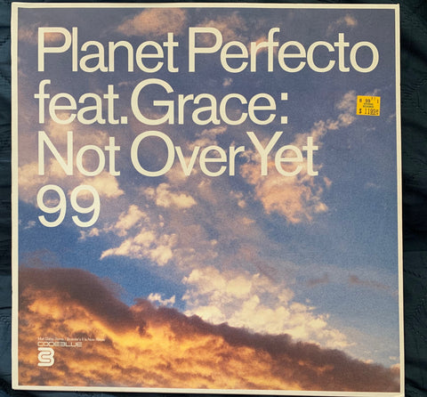 "Planet Perfecto ft: Grace - Not Over yet 12"" Remix LP Vinyl - Used"