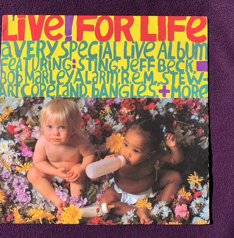 LIVE! For Live (Various) 1986 LP Vinyl - Used (Go-Go's, Sting, Bangles +++)