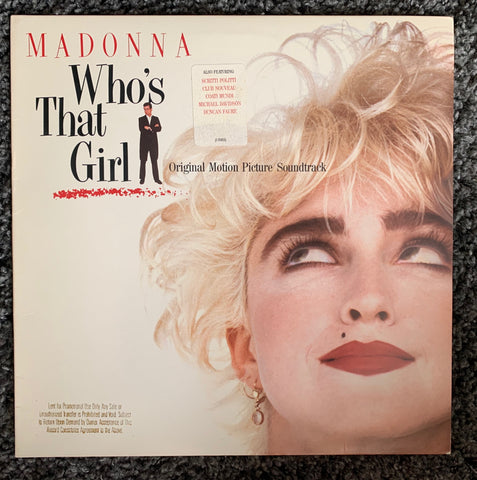 Madonna - Who's That Girl (OST) Original 1987 LP PROMO Vinyl -