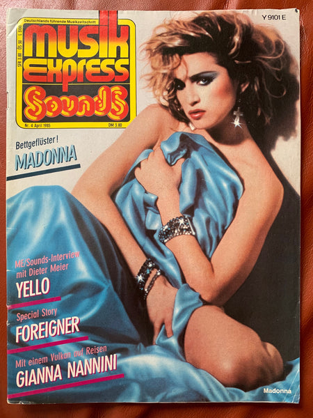 Madonna - Musik Express (German) Magazine April 1985