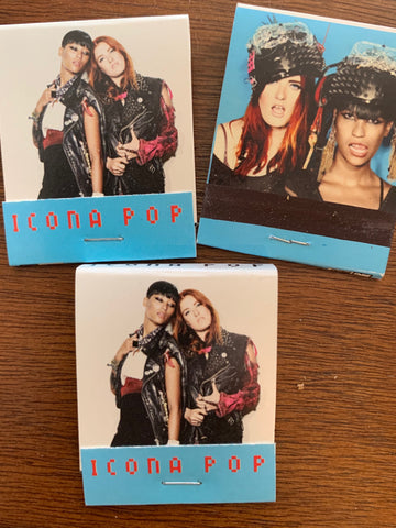 Icona Pop- Official Promo matches - set of 3