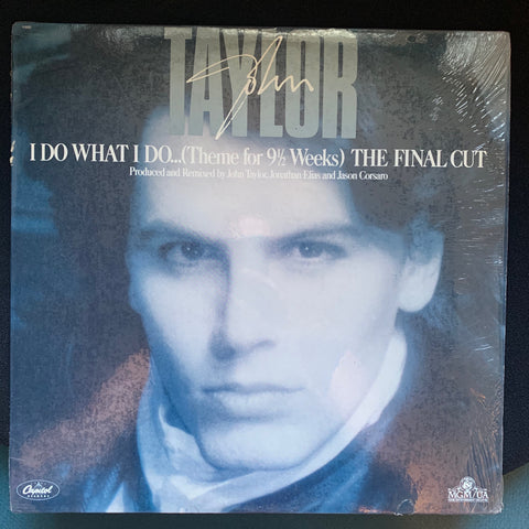 "John Taylor : I Do What I Do (Theme for 9 1/2 Weeks) 12"" Remix LP Vinyl - used"