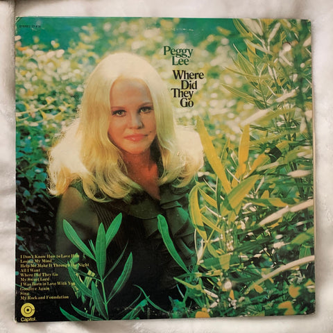 "Peggy Lee - ""Where Did They Go""  LP Vinyl - Used 70's"