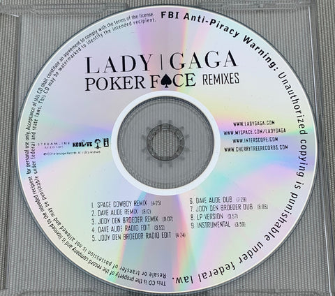 Lady GaGa - Poker Face (Official PROMO Remix CD single)