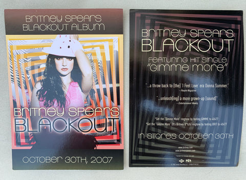 Britney Spears - BLACKOUT (Promotional 5x7 double sided glossy card) - PROMO