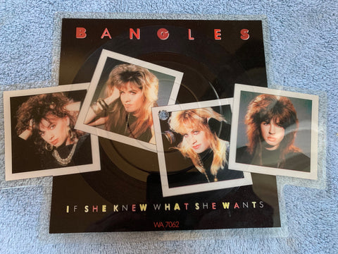 "The Bangles - ''If She Knew What She Wants'' die cut 7"" picture Disc Vinyl"