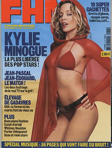 FHM Magazine (France) - March 2002 - Kylie Minogue Cover