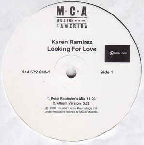 "Karen Ramirez - Looking For Love double 12"" Promo  LP Vinyl"