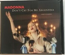 Madonna - Don't Cry for me Argentina (USA Maxi remix CD single) - used
