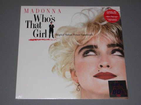 Madonna - Who's That Girl (Back To The 80's) 2017 pressing LP Vinyl