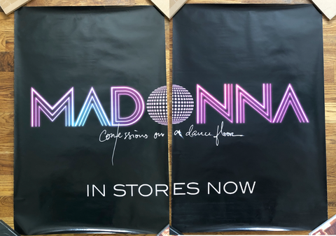 Madonna - 2005 - Confession on a Dance Floor  - Giant 2 Piece Promotional Print 48X36 - Borderline MUSIC