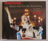 Madonna Don't Cry For Me Argentina + 2 non mixes  CD single (Import)
