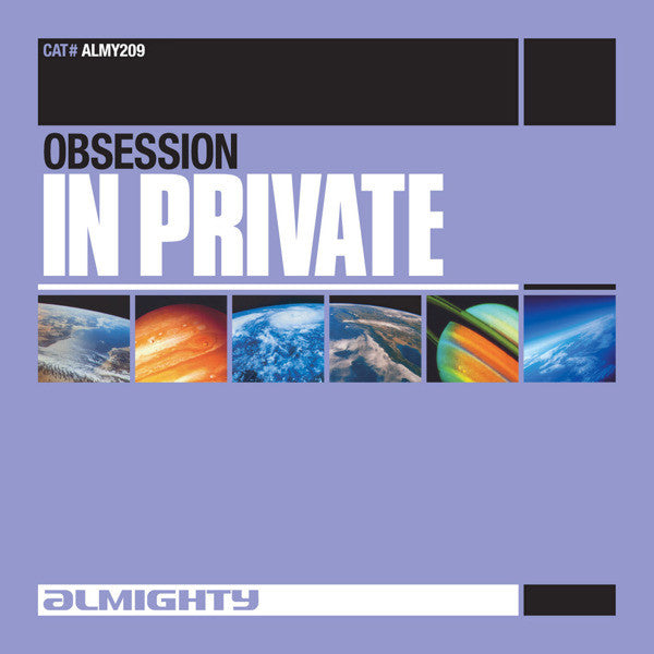 Almighty presents OBSESSION - In Private Promo CD single - Used