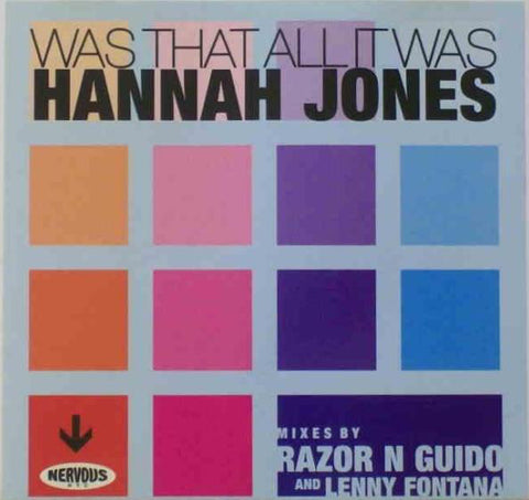 Hannah Jones - Was That All It Was (Maxi CD single) Used