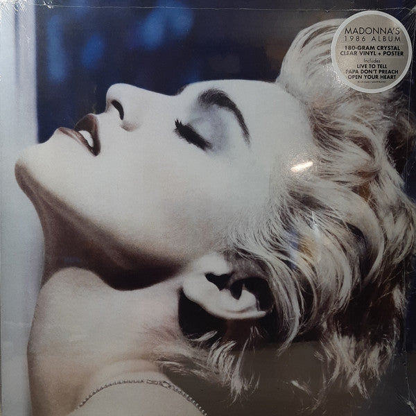 Madonna - True Blue  Clear vinyl edition 2019- LP Vinyl