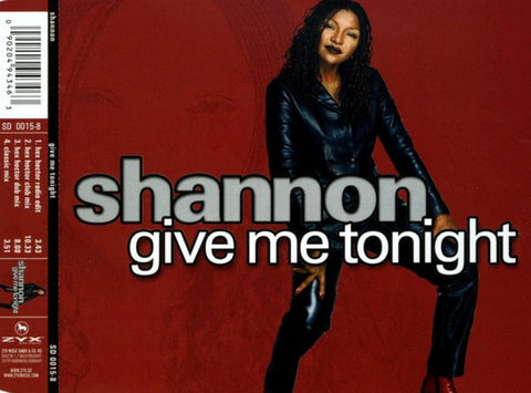 Shannon - Give Me Tonight 2002 mixes CD single